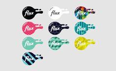 Flux (TV Network Identity Design) by Craig Pinto, via Behance Tv Channel Logo, Channel Branding, Typo Design, Identity Design, Graphic Design, Logo Tv, Logo Color, Texture Design, Logo Inspiration