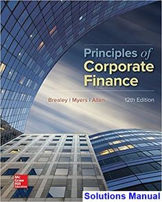 Real estate finance investments 15th edition solutions manual solutions manual for principles of corporate finance 12th edition by brealey ibsn 1259144380 fandeluxe Choice Image