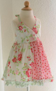 little girl's Floral Halter dress