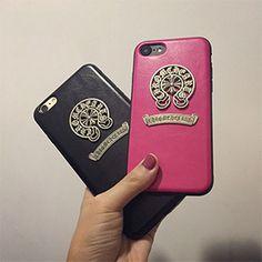 Chrome Hearts iphone7ケース クロムハーツ iphone7 plusケース カップル用 アイフォン6s/6カバー pu レザー製 ペア用