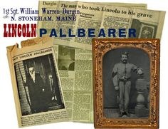 Abraham Lincoln funeral train honor guard and pallbearer William Warren Durgin American Revolutionary War, American Civil War, Abraham Lincoln Family, Lincoln Assassination, Honor Guard, Civil War Photos, Rms Titanic, Gettysburg, Pearl Harbor