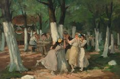 The Picnic Grounds by John French Sloan via DailyArt mobile app American Realism, American Artists, William Glackens, Georg Trakl, Ashcan School, Pintura Exterior, Puzzle Of The Day, Most Famous Artists, Whitney Museum