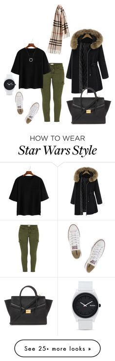 """Untitled #245"" by lidou on Polyvore featuring Mother, Converse, Forever 21, Burberry, Nixon, Michael Kors, women's clothing, women's fashion, women and female"
