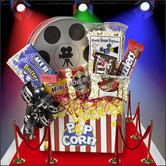 Movie Night = Movie buffs will thank you for bringing this all-star cast of favorite theater goodies within reach of the couch. So they can just press Play…and munch, munch!
