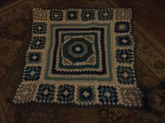 Baby blanket made for a friend. Freelanced it.