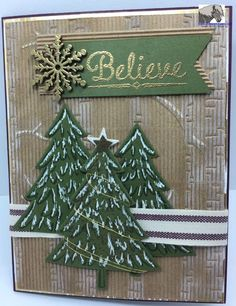 Stampin' Up! Holiday catalog products: Woodland TIEF embosses Kraft Corrugate Paper (AC), Peaceful Pines stamp set with matching Perfect Pine Framelits. http://stampsnlingers.com/2015/08/24/stampin-up-peaceful-pines-in-the-woodlands/