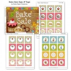Bake Sale Sign and Tags