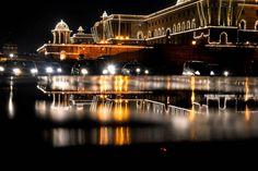 A New Delhi, un bâtiment présidentiel illuminé pour le jour de l'Indépendance…
