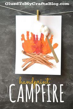 Handprint Campfire - Great Summer Kid Craft Keepsake Idea