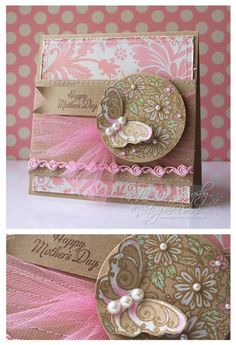 pretty card - like the use of tulle - by Mariana Grigsby
