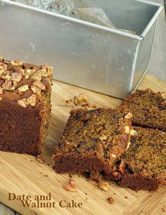 The intense sweetness of dates and the rustic bitterness of walnuts complement each other beautifully in this Eggless Date and Walnut Cake. An ideal accompaniment for a cup of hot Tea, Chocolate or Coffee , this cake has a well-balanced and homely flavour that everybody is sure to enjoy. While condensed milk enhances the richness of this cake, a dash of coffee powder adds to its flavour, bringing the overall experience to an incomparably high level!