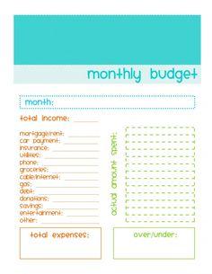 simple budget sheet template