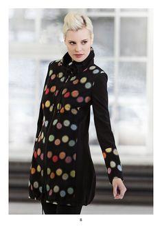 Coat with long sleeves. KRISS Sweden Sweden, Dresses With Sleeves, Spring, Coat, Long Sleeve, Fashion, Moda, Sewing Coat, Long Dress Patterns