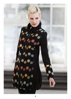 Coat with long sleeves. KRISS Sweden