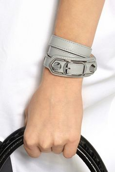 Balenciaga Tote Bag, Balenciaga Bracelet, Classic Leather, Grey Leather, Studs, Rings For Men, Jewels, Bracelets, Accessories