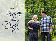 Geometric Save The Date Card Design Front