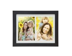 Philip Whitney Matte Black Wooden Dual Opening 4x6 Matted Picture Frame ** See this great product. (This is an affiliate link) #PictureFrames