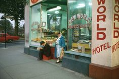 New World Confectionery, His pioneering work in colour would be further developed by such photographers as Stephen Shore and William Eggleston. Stephen Shore, Color Photography, Vintage Photography, Film Photography, Street Photography, Vancouver Photography, Edward Hopper, William Eggleston, Saul Leiter