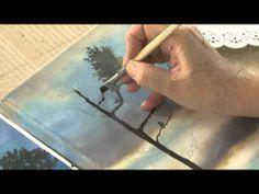 Como pintar un cuadro de paisaje - Pinturas acrilicas Eterna - Ana Gjurinovich - YouTube