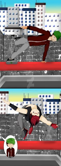 Parkour by 02lucy20 on DeviantArt.  Did anyone notice the little sam on the bottom of Jack's shoe?