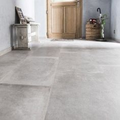 Carrelage sol et mur noir blanc effet ciment gatsby - Sol beton cire leroy merlin ...