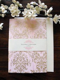 Wedding Invitation Wedding Invite Unique by LavenderPaperie1
