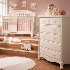 This Natart 2 piece set in linen includes the crib to full-size convertible Allegra Crib and 5 drawer dresser. JPMA, CPSC & ASTM certified. Free shipping!