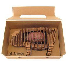 Ham packed inside a cardboard pig