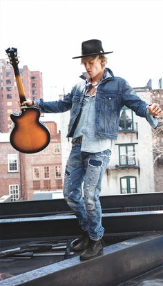 Cody Simpson, new face of Denim & Supply Ralph Lauren, in the vintage inspired Chester Denim trucker jacket.