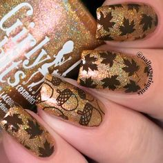 Enjoy our amazing collection of Thanksgiving nails designs for your fall inspiration. Bring some creative touch into your fall manicure with our ideas. Fall Gel Nails, Fall Manicure, Autumn Nails, Fall Nail Art, Shellac Nails, Diy Nails, Gel Nail Art Designs, Marble Nail Designs, Fall Nail Designs
