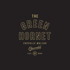 My dad got a 67 impala and named it the Green Hornet. I felt like it needed a logo.