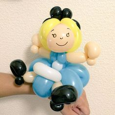 Alice bracelet from Alice In Wonderland #balloonart #バルーンアート