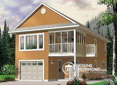 Plan de Maison unifamiliale W2933, Plan de Garage W2992-24, dessinsdrummond drummonddesigns drummondhouseplans, house inspiration, home, maison, contemporaine, modern, chalet, cottage, rénovation, garage, bachelor