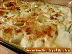Parmesan Scalloped Potatoes  http://www.momspantrykitchen.com/parmesan-scalloped-potatoes.html pinned with Pinvolve - pinvolve.co
