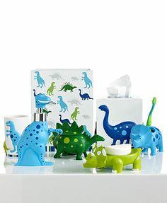 Merveilleux Kassatex Bath Accessories, Dino Park Toothbrush Holder