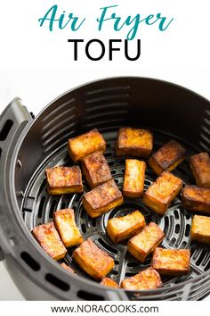 Crispy, flavorful and easy Air Fryer Tofu! 4 ingredients and a great source of protein. Best Picture For tofu recipes for kids For Your Taste You are looking for something Vegan Crockpot Recipes, Best Vegan Recipes, Tofu Recipes, Vegan Dinner Recipes, Cooking Recipes, Salmon Recipes, Asian Recipes, Snack Recipes, Vegetarian Dinners