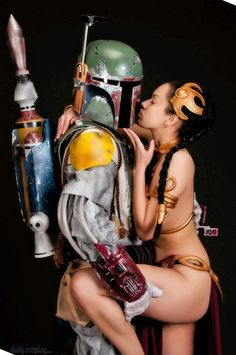 Slave Leia & Boba Fett from Star Wars Return of the Jedi