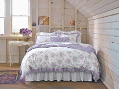 Love this space!  The bedding is nice, but I'd like it better in blue.  :)  Simply Shabby Chic Lilacs bedding collection $75.99 - $94.99 at Target