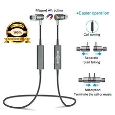 Special Offers - Bluetooth Headset Smilism Magnetic Wireless Stereo In-ear Sport Running Earbuds Earphones With Mic (Noise Reducing) for iPhone 6S 6S Plus Sumsang S6 S5 Android Phone (Bluetooth V4.1) - In stock & Free Shipping. You can save more money! Check It (June 09 2016 at 09:08AM) >> http://ift.tt/1tbhcoX