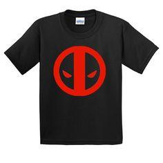 Deadpool Logo Youth Comic Book Tshirt All Sizes Deadpool Comics Superhero Yxs YM YL YXL