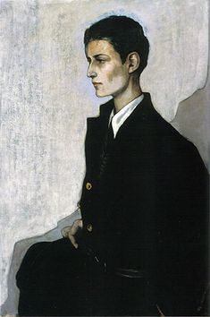 """Hannah Gluckstein, alias Gluck by Romaine Brooks,  Title : """"Peter, a Young English Girl """""""
