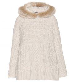 Loro Piana - Engadina baby cashmere sweater with mink and fox fur hood - mytheresa.com GmbH