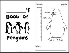 free penguin template printable Penguin craft writing sheet or