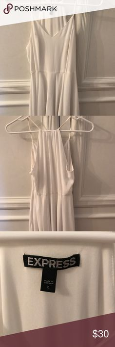 White Express dress Great dress worn one time! Great condition & perfect for spring, events, or graduation Express Dresses Mini