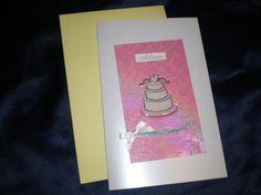 Pink Wedding Cake Lesbian Wedding Card by giftcardsbynlo on Etsy, $4.95