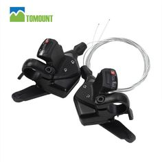 2016 New TOMOUNT MTB 1Pair 3x8 Speed Bike Shifter Brake Lever Set Bicycle Cycling Disc Brakes With Shift Cable Aluminum Alloy