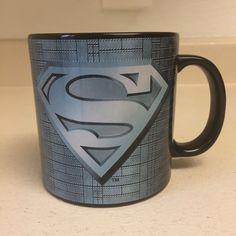 Vandor TM & DC Comics Superman Logo Steel Grey Coffee Mug Cup #Vandor