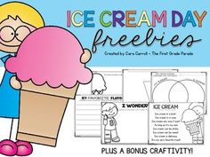 If you're surviving the end of the school year with themed days like me and you're looking for a few more activities to incorporate into your day full of fun, look no further!  These printables and craftivity are perfect for an ice cream themed learning day!