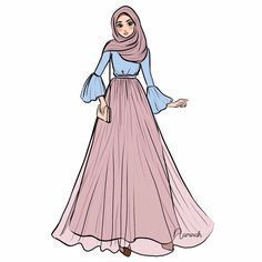 Fashion Design Drawings Hijab 24 New Ideas – Hijab Fashion 2020 Fashion Model Drawing, Fashion Drawing Dresses, Fashion Illustration Dresses, Fashion Design Drawings, Fashion Sketches, Fashion Dresses, Hijab Fashion, Fashion Art, Trendy Fashion