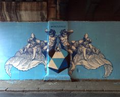 "Lucamaleonte just finished working on this new piece which is entitled ""#Backtoblue"" on the streets of Rome, Italy."